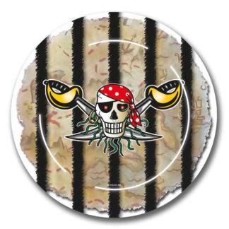 talířky pirát, talířky papírové pirát, párty talířky pirát, párty talířky, talířky piráti