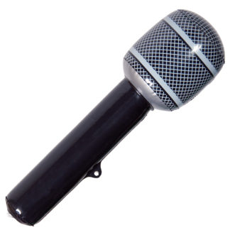 nafukovací mikrofon, nafukovací dekorace, mikrofon, párty mikrofon