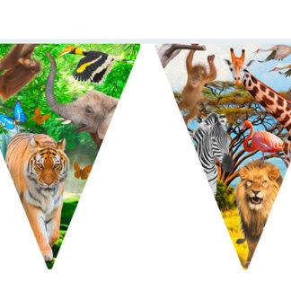 safari, vlaječky safari, baner safari, girlanda safari, banery safari safary, safary
